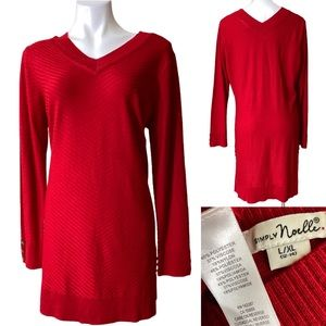 Simply Noelle L/XL ribbed tunic sweater